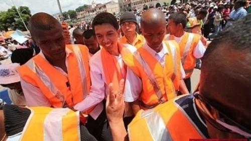 Andry Rajoelina sur la Place du 13 Mai (Archives)